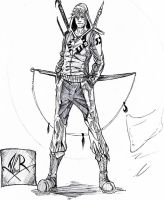 Warrior of Darkness - sketch by Aless78
