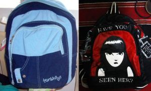 Recycled bag DIY1 Emily the Strange by ffdiaries958