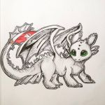 Toothless from How to train your dragon by Moonprincess731