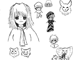 Doodling out characters by Kiri-TheEye