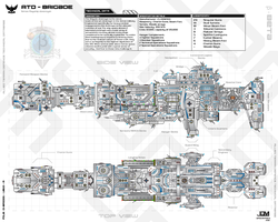 ATD-Brigade Class Flagship Destroyer by Apocryphea
