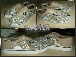 Doodle HandPainted Custom Shoes by Simone93