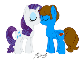 :RQ: Blaine Rarity Kissing by Amy-Oh