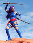 Psylocke Cosplay Valley of Fire by AsianPsylocke