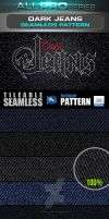 Dark Denim Seamless Pattern by ravirajcoomar