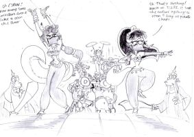 Kitty and Carmelita Belly Dance by BreakoutKid