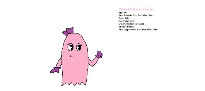Pinky O. Ghostmonster by PacandPinky101