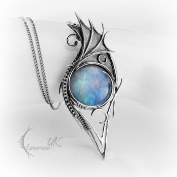 NAZIDYS - silver and moonstone by LUNARIEEN