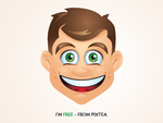 Free Vector Character by pixtea