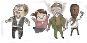 Left 4 Dead Chibi by Samoubica