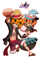 Render Luffy x Choopper Halloween by GothicxStyylee