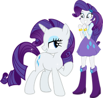 Ratiry y Rarity by Fluttershy78