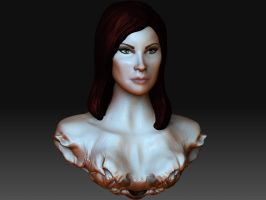Female Bust: Color by Verde13
