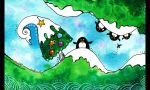Penguins and Christmas by sara-nmt