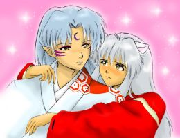 InuYasha and Sesshomaru by Buckokku11