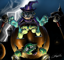 A Happy Halloween by The-Cobalt-Nocturne