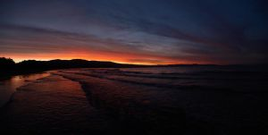 Pohara Beach Sunset Panorama by Deceptico