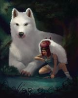 Princess Mononoke by klungart