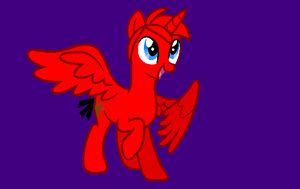 Angry Birds MLP - Alicorn Red by worldofcaitlyn