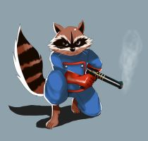 Rocket Raccoon by ss2sonic