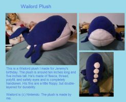 Wailord Plush by Gluevah