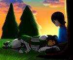Resting Heroes by GirlKirby