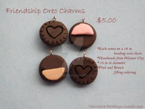Oreo BFF Necklace Charms by Wintaria