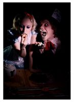 Alice and the Hatter Eat Cake by alicearmstrong