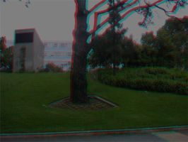 Lonely Tree Anaglyph by frostdemn