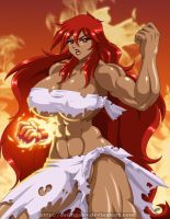 Hot Girl Blazing Fist - DesingAHV by Sephzero