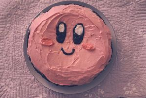 Kirby Cake by KittyCarousel