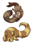 Lil Ferrets by Silverbirch