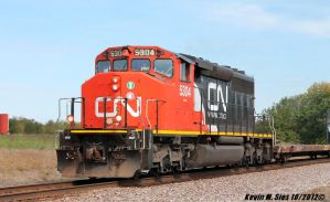 CN SD402W 5304 leads empty wind mill train by EternalFlame1891