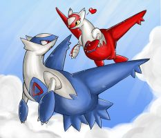 +Latias And Latios+ by Sprinkling-stars