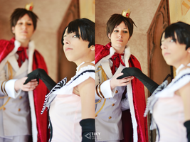 come with me - Eren and Levi SNK by TikyTheRipper