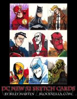 DC NEW 52 SKETCH CARDS 2 by Bloodzilla-Billy