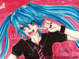 Smile Miku by thei-chan