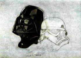 Darth and Trooper WIP by Taz1337
