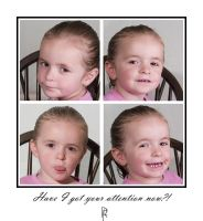 Four faces of a child by BFG