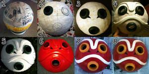 San's Mask-- Step by Step/Tutorial by Renna-Mira