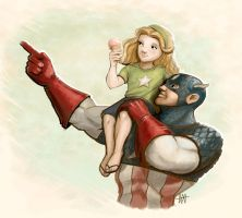 Captain America by Mi-Wi