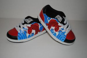 Koi Fish Skateboard Shoes by cxcdrummer