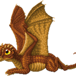 Baby Copper Dragon by Rijolt