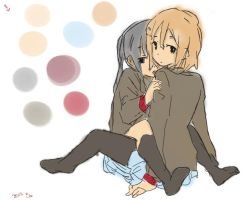 Yui And Azusa by oblax17