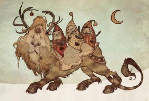 The Yuletide Beast by AudreyBenjaminsen