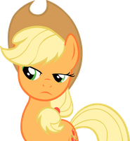 Applejack is Sceptical by Derpotronic