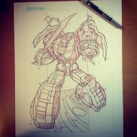 Commish 118 WIP 02 by RobDuenas