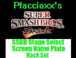 SSBB SSS Name Plate hack Pack by Pfaccioxx
