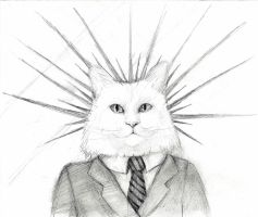 hail to the cat overlords by deathlycupcake