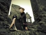 Lady in castle ruins by MASYON